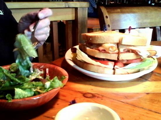 Paisley, OR: Club sandwich and salad done right!