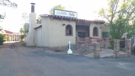 The entrance to Little Italy Italian Restaurant in Show Low AZ