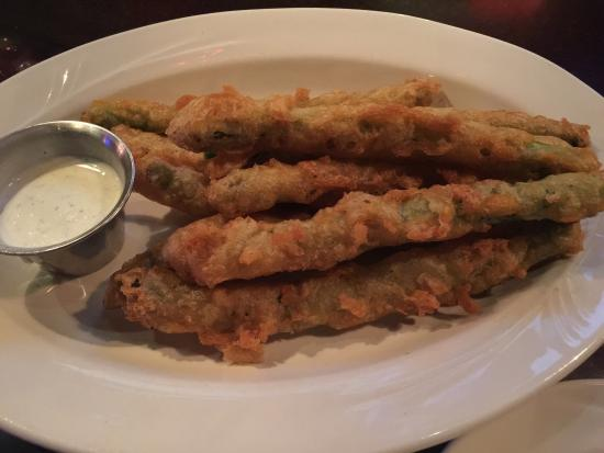 The Postmark Grille : Deep fried asparagus was excellent, chicken parm okay, philly was good.