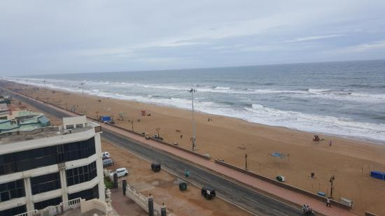 Puri Beach: View from my hotel