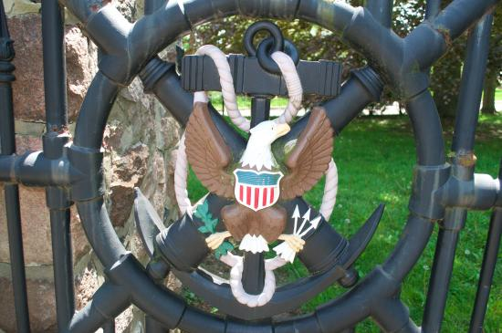 Fremont, OH: Gate to the property, which came from the White House.