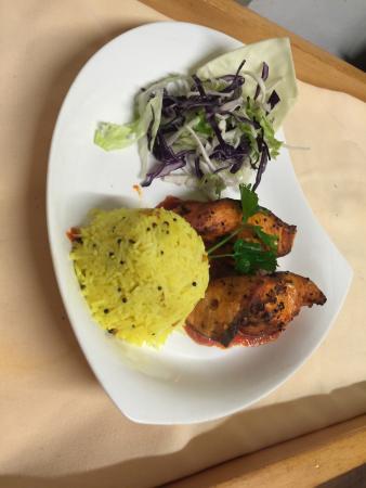 Sutton in Ashfield, UK: malabari scallops,lamb shank, kala fish, seabas  moli served @ Kera Dine