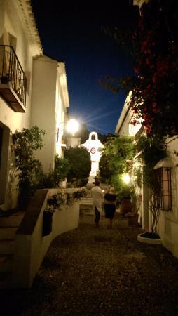 La Tienda: Looking towards the church