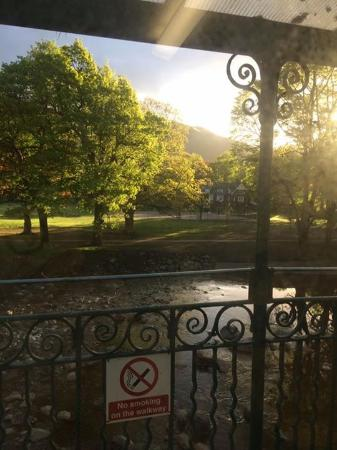 YHA Keswick: View in the morning from the sitting area