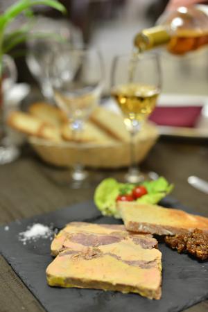 Hotel Restaurant Le Teinchurier : marbré de fois gras restaurant le teinchurier brive