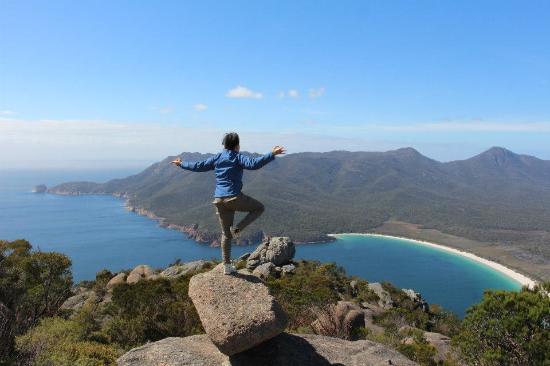 Tasmanien, Australien: Mt Amos View - Wine Glass Bay