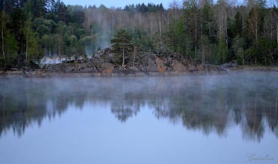 Lumivaara, Rússia: Рано утром.