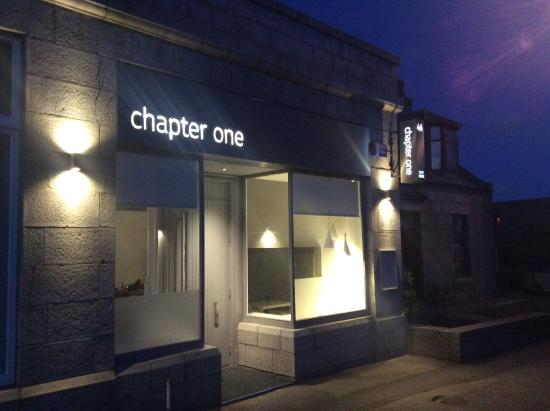 Inverurie, UK: chapter one at night, new contemporary restaurant in Inverurie.