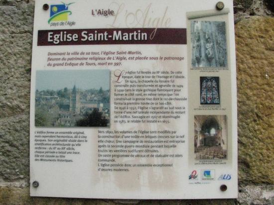 L'Aigle, France : eglise Saint Martin