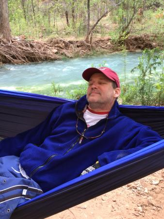 Havasu Falls Campground: Our campsite.
