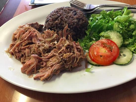 North Highlands, CA: Lechon with Cuban rice