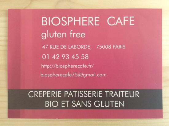Biosphere Cafe Carte De Visite