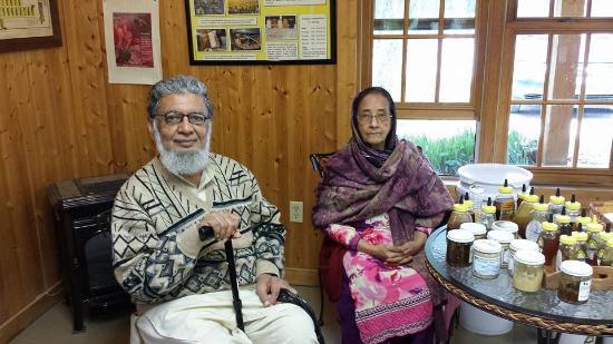 Hunters Honey Farm: Me and my wife Sabiha