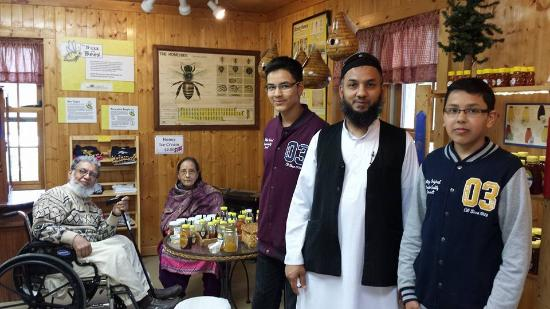 Hunters Honey Farm: Testing honey with my son and grandson