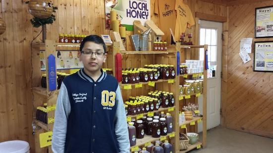 Hunters Honey Farm: My grandson Haris