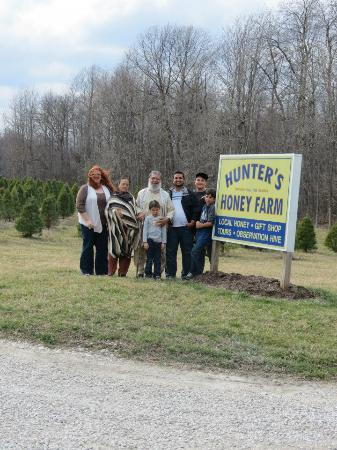 Martinsville, IN: My family at the entrance of the Farm