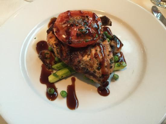 Elizabeth's Cafe at Perfect Parties: Grilled Chicken Breast with Spring Vegetables