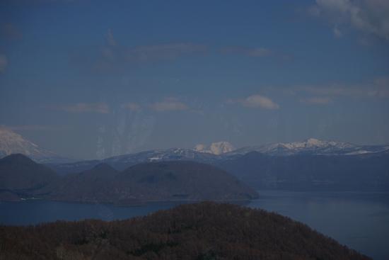 Sobetsu-cho, Japón: ロープウェイの中から望む洞爺湖
