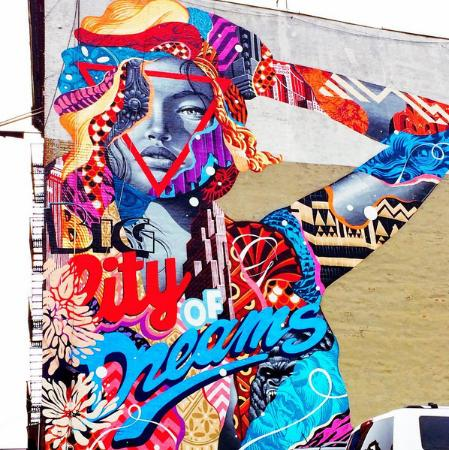 Street art by tristan eaton in little italy photo de for Audrey hepburn mural soho