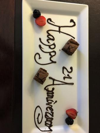 Bearsted, UK: A thoughtful touch when staff were told we were celebrating our anniversary