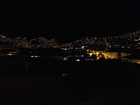 Tierra Viva Cusco Plaza: Nightime view from our room
