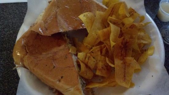Salisbury, NC: Cuban Sandwich with Plantain chips