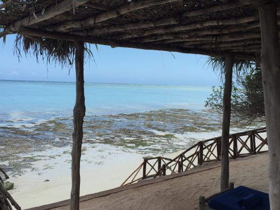 Ras Nungwi Beach Hotel: view of ocean from private elevated beach area
