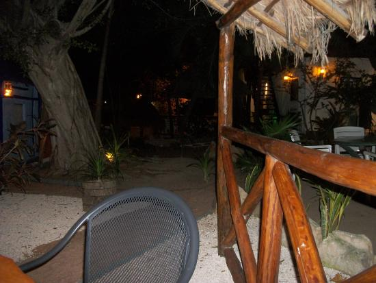 Amar Inn B&B: garden at night