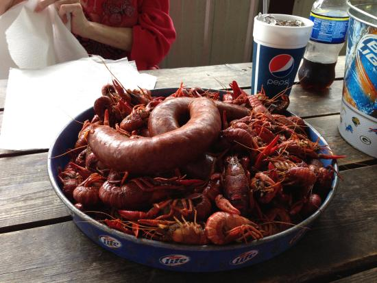 Brandon, MS: Crawfish and Spicy Sausage