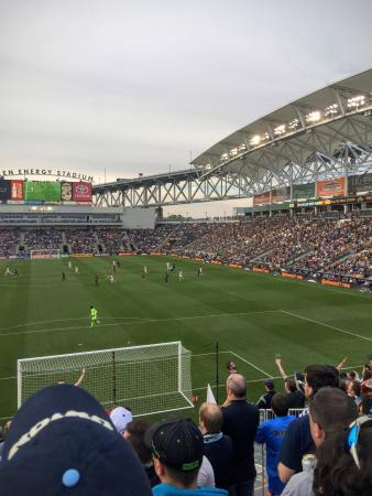 Chester, Pensilvania: A rivalry game between the Philadelphia Union and DC United, with the Union winning 1-0 in stopp