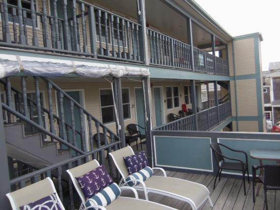 The Dockside Inn: The 2nd and 3rd floor rear porches