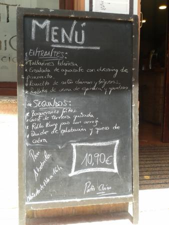 El Patio Chico: Menu Del Dia In Spanish