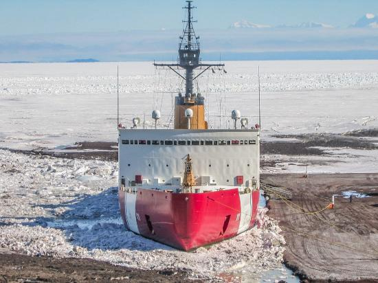 McMurdo Station: McMurdo Ice pier. CGC Polar Sea