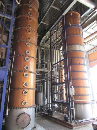 Saint-Pierre, Μαρτινίκα: les colonnes de distillations