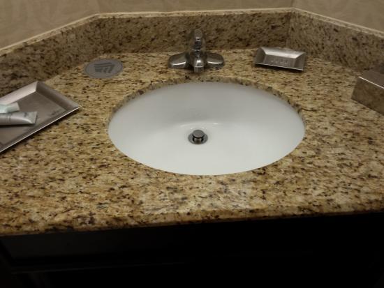 Wyndham Garden Exton Valley Forge: Granite Bathroom Sink!