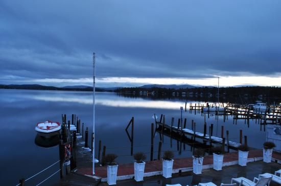 Wolfeboro, NH: Sunset view from the porch