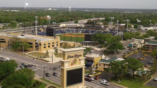 The view from my room, the home field of the Biloxi Shuckers baseball team.