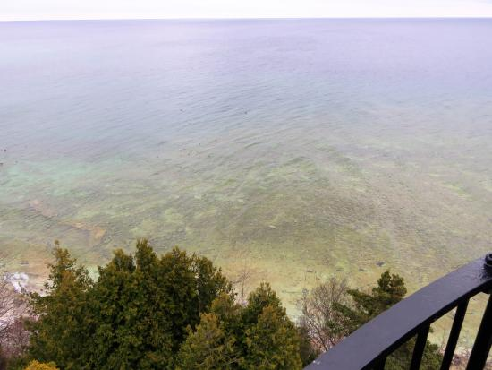 Baileys Harbor, WI: looking down from the light