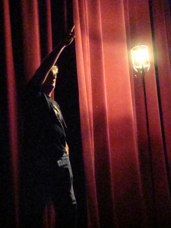 "Decatur, IL: The ""ghost light"" at the Haunted Lincoln Theater."