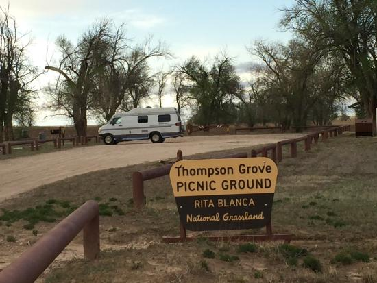 Clayton, NM: There are a couple of picnic areas with toilets that allow overnight camping. They're situated a