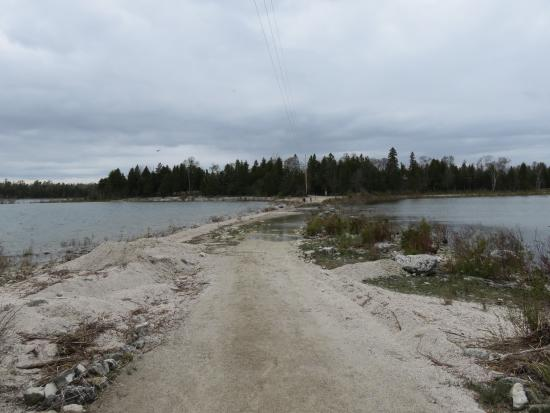 Baileys Harbor, WI: another view of the path from the mainland