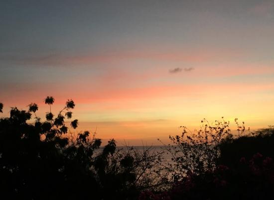 Saint George Parish, Grenada: Sunset from the veranda