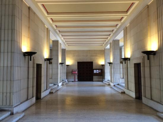 the art deco portico underneath ucl senate house picture of
