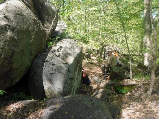 Hillsborough, NJ: Picnic among boulders in Sourland Mountain Preserve