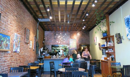Pangea Pretty Brick Walls And Changing Local Artwork Complement Fine Food