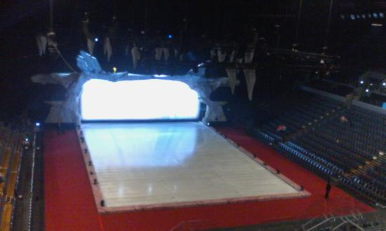 a view of the side seating of inside vector arena - Picture
