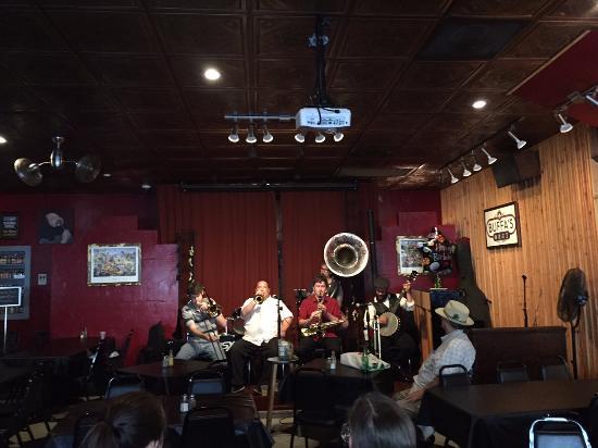 Buffa's Bar & Restaurant: The first band we saw at Buffa's. Classic NO jazz.