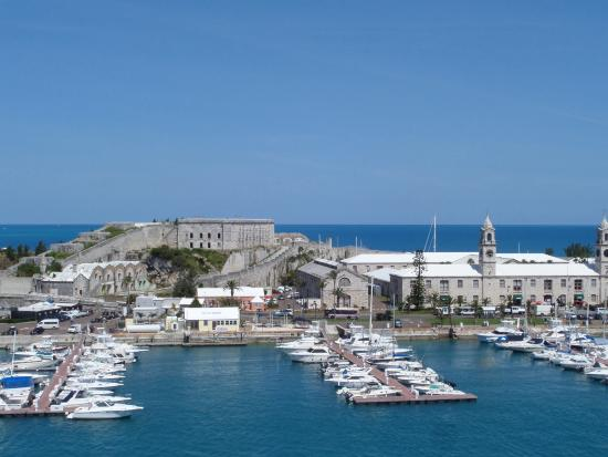 Sandys Parish, Bermuda: View from our cruise ship of the Dockyard