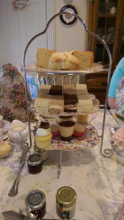 Walpole, MA: Three tiers of lovely tea food