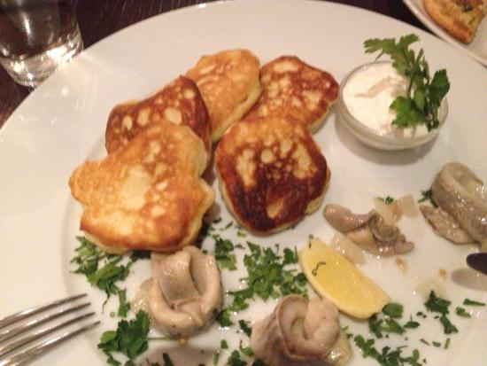 Tatra : Perfect little Blinis with delicious Herring